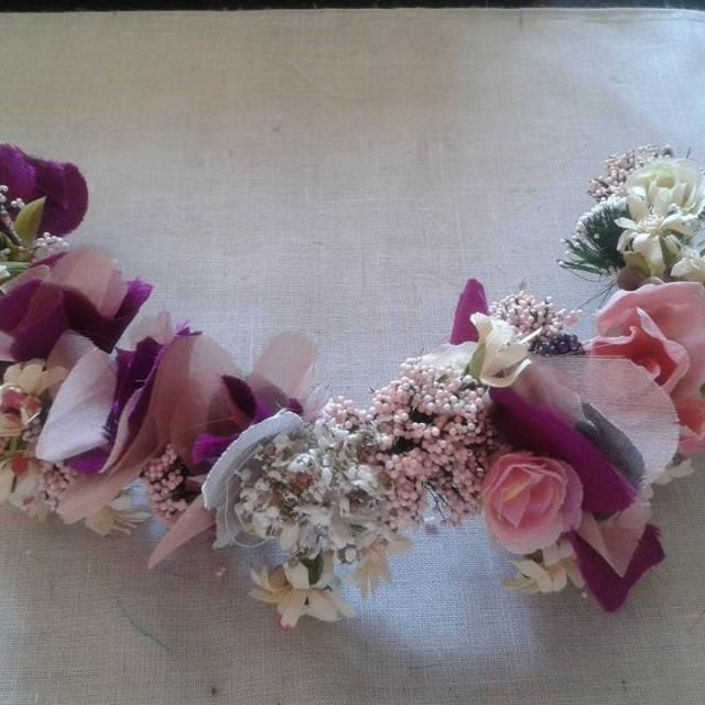 Tiaras con flores