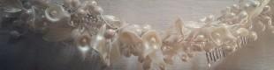 Tiara novia porcelana fría