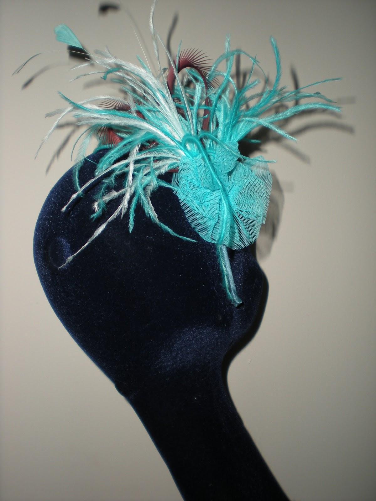 Tocados para vestido azul turquesa