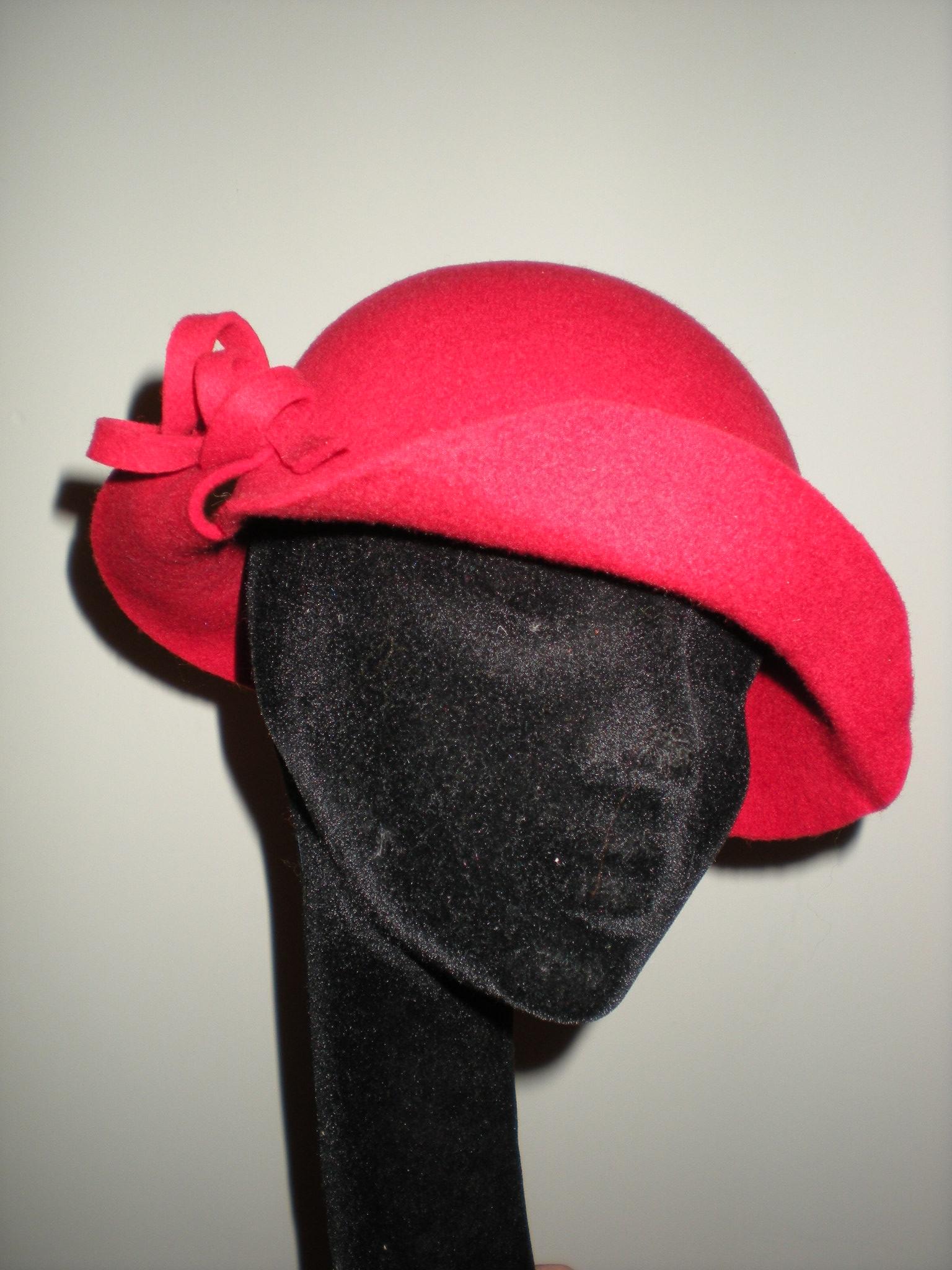 sombrero fieltro rojo