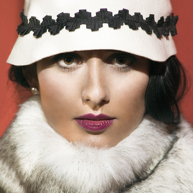 sombrero blanco fieltro