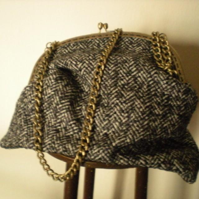 Bolso tweed grises