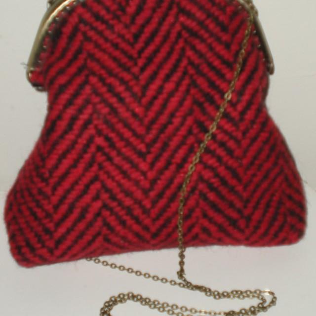bolso tweed  rojo agurital